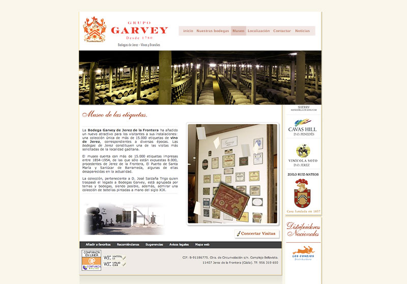 Web Grupo Garvey