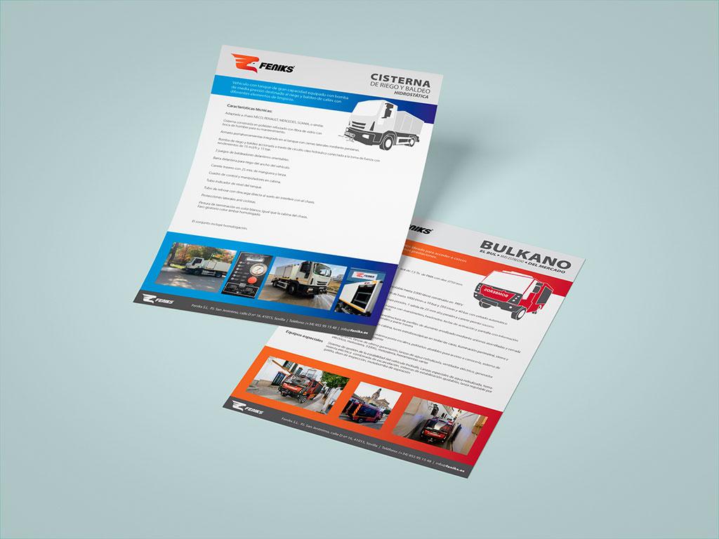 Fichas de producto camiones