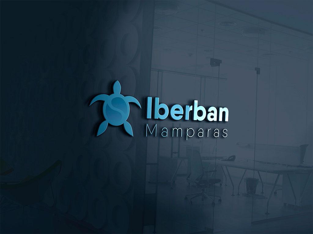 Rediseño Logo Iberban Mamparas