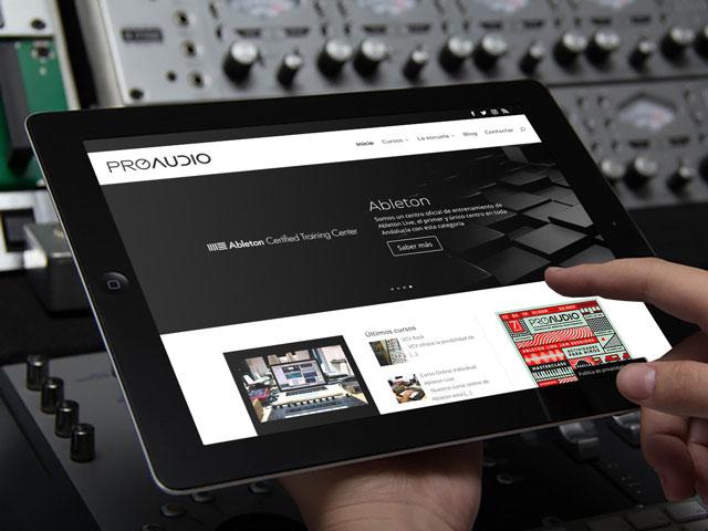 Web ProAudio Escuela